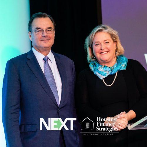 Housing Finance Strategies owner Faith Schwartz with Craig Phillips at #NEXTDC19