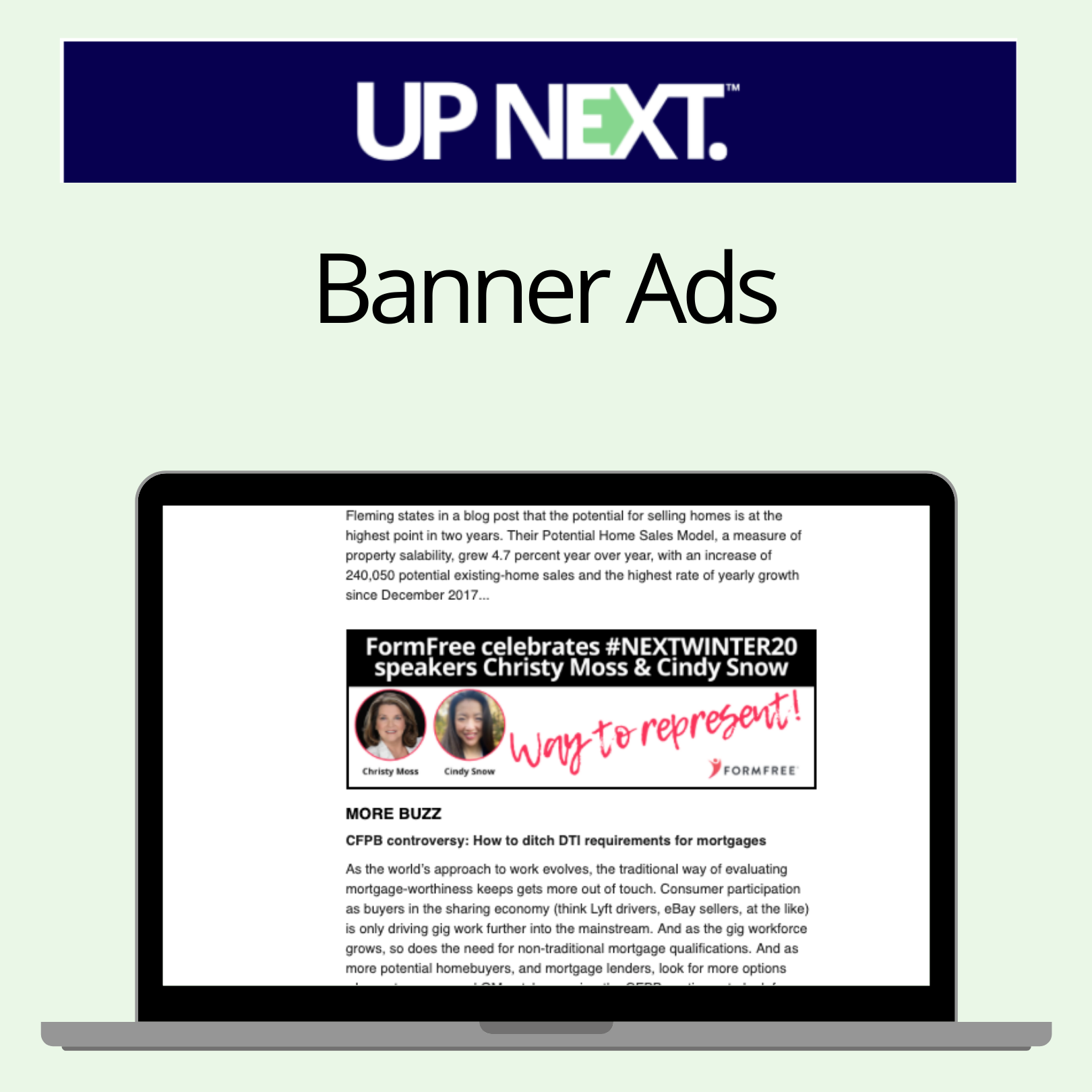 Up Next Banner Ad Monthly Next Mortgage News
