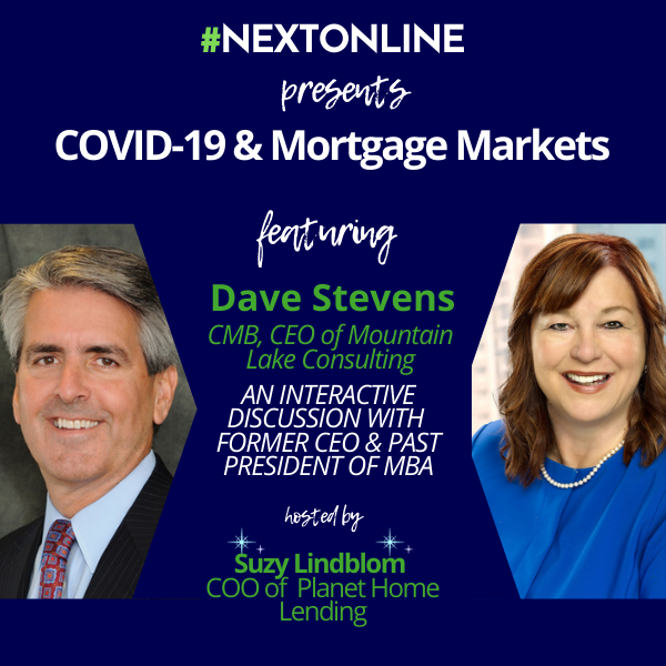 Video: Virtual Lunch with an Expert: Dave Stevens & Suzy Lindblom on the Impact of COVID-19 on the Mortgage Industry