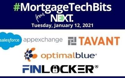 #MortgageTechBits: FinLocker's new CEO; Tavant's new FinConnect on Salesforce AppExchange; News from Black Knight, Optimal Blue, RealKey & Flagstar