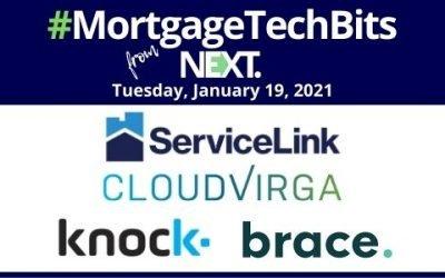 #MortgageTechBits: Knock names Michelle DeBella CFO; ServiceLink hires Chris Cunningham; Cloudvirga accelerates growth; Brace scores $15.7M in Series B